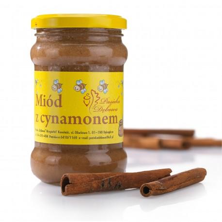 Miód z cynamonem - masa netto: 400g.
