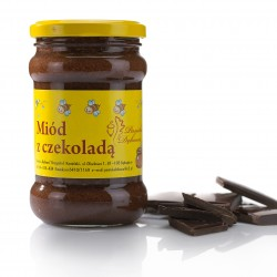 Honey with chocolate. Weight: 400g.