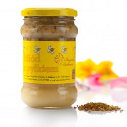 Miód z pyłkiem - masa netto: 400g.