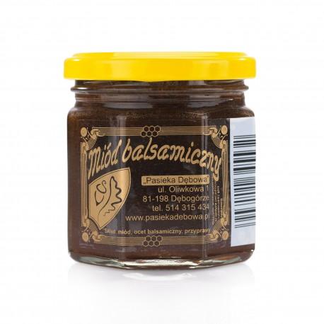 Miód balsamiczny bardzo ostry-waga netto: 240g.