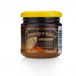 Honig mit Moosbeeren