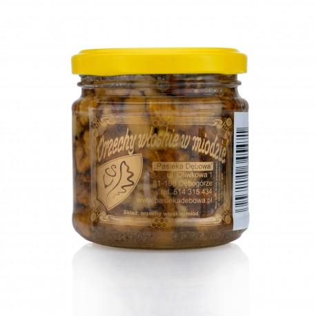Orzechy włoskie w miodzie- masa netto: 240g.