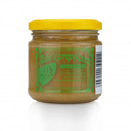 Miód z propolisem masa netto: 250g.